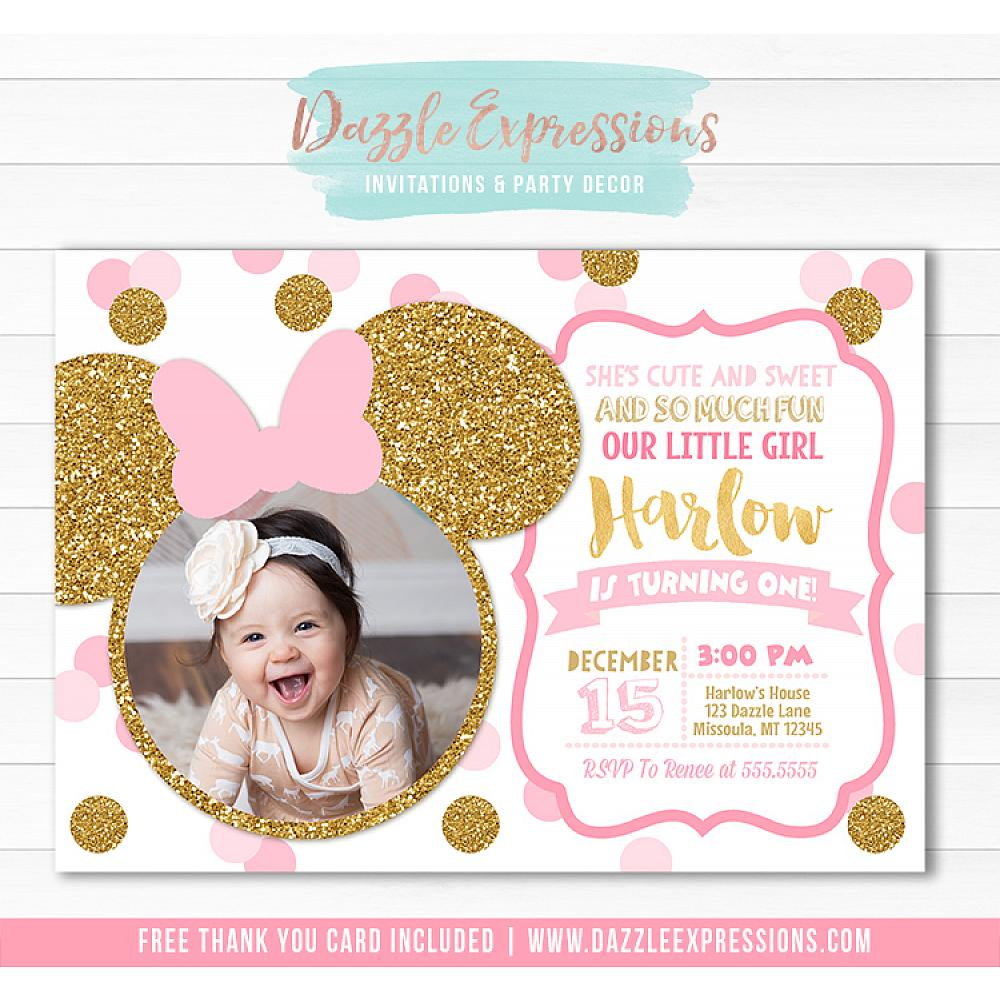 Minnie Mouse Inspired Birthday Invitation 7
