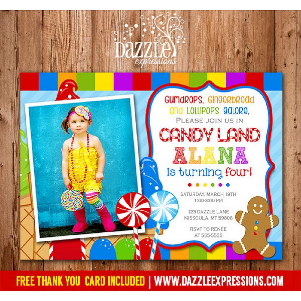 Printable Candy Land Birthday Invitation