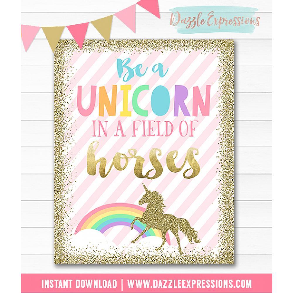 Idl02 Unicorn Wall Art Instant Download