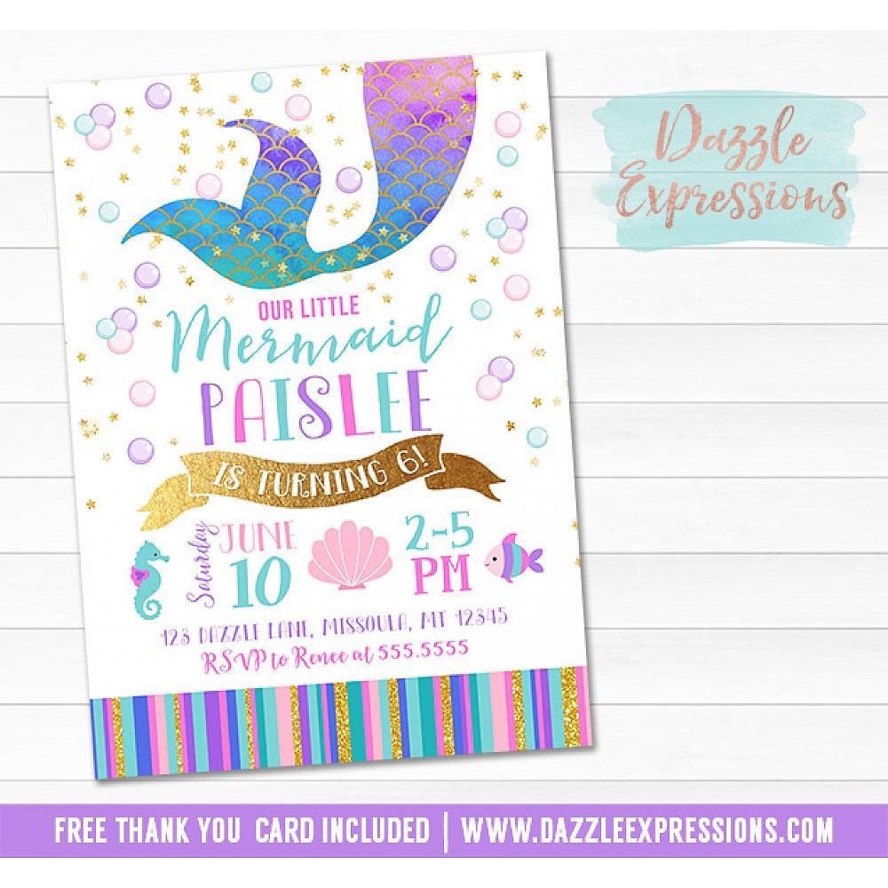 Mermaid Birthday Invitation 7