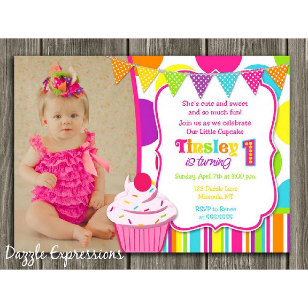 Cupcake Birthday Invitation 6