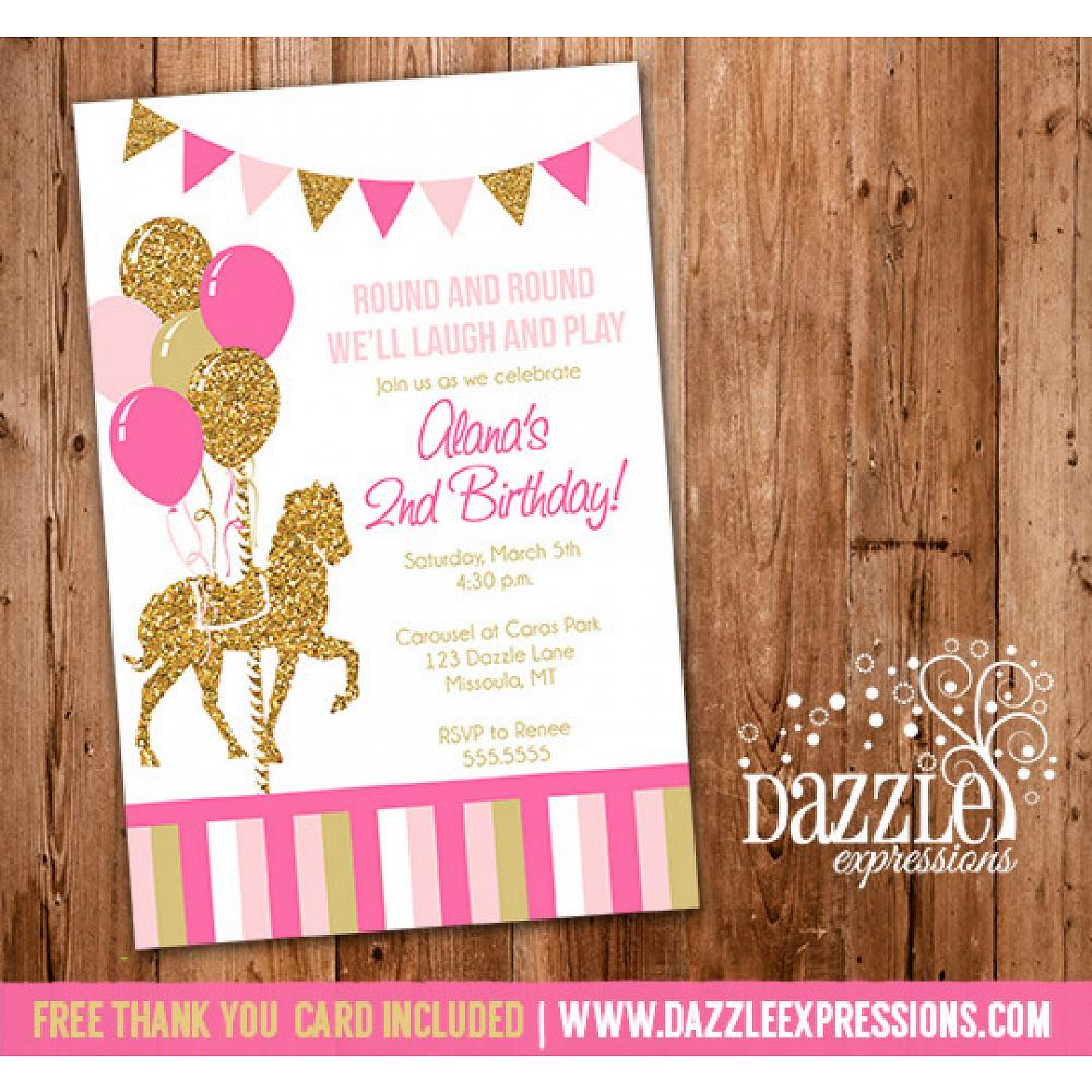 Carousel Birthday Invitation 9