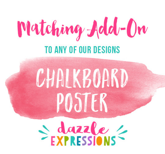 ADD ON Chalkboard Birthday Poster