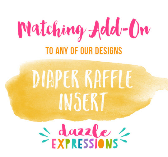 ADD ON - Printable Diaper Raffle Insert