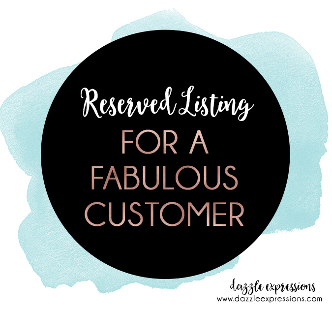 Reserved Listing for Cherie