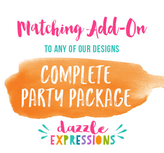 ADD ON Printable Complete Party Package - 25 items!