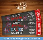 4th of July Ticket Invitation 2 - FREE thank you card included
