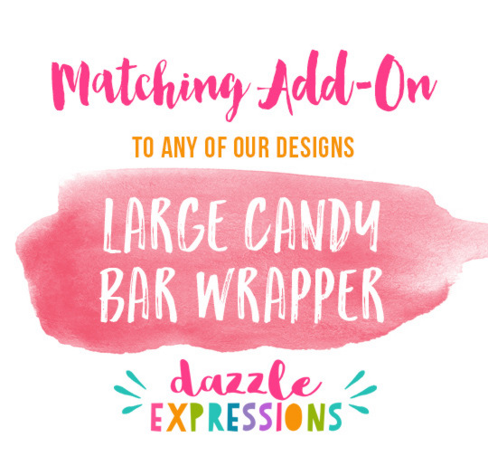 ADD ON Large Candy Bar Wrapper