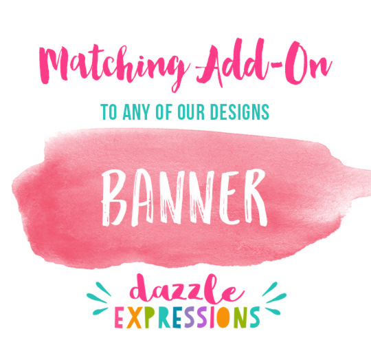 ADD ON Printable Banner