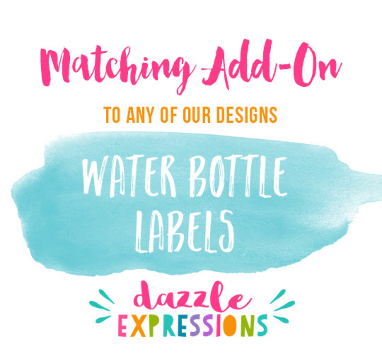 ADD ON Water Bottle Labels