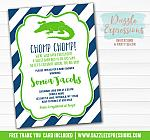 Alligator Baby Shower Invitation 1 - FREE thank you card