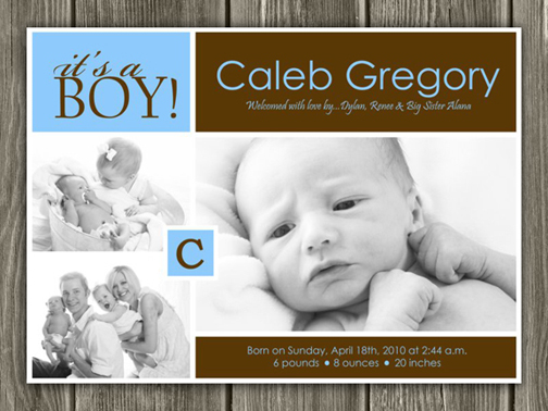 Birth Announcement Style #10 - Printable