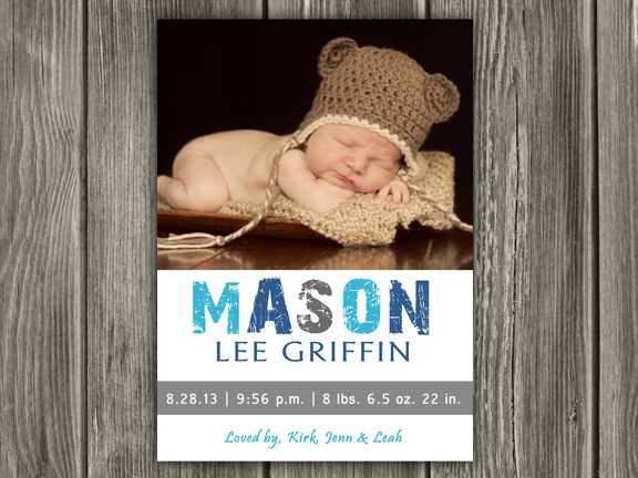 Birth Announcement Style #12 - Printable