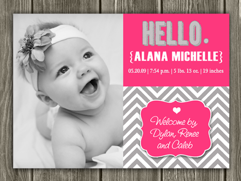 Birth Announcement Style #15 - Printable