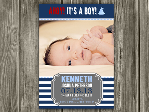 Birth Announcement Style #16 - Printable