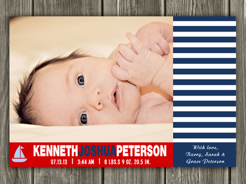 Birth Announcement Style #17 - Printable