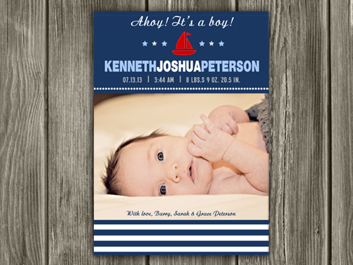 Birth Announcement Style #18 - Printable
