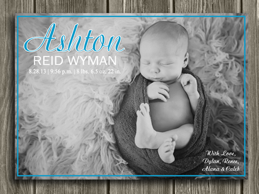 Birth Announcement Style #2 - Printable