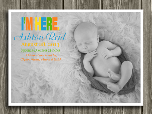Birth Announcement Style #4 - Printable