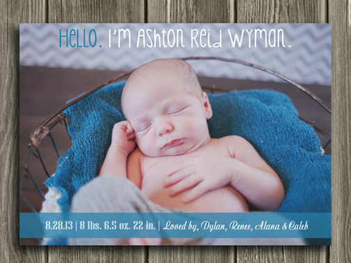 Birth Announcement Style #5 - Printable