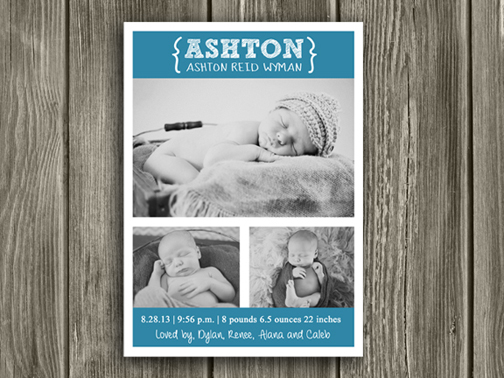 Birth Announcement Style #7 - Printable