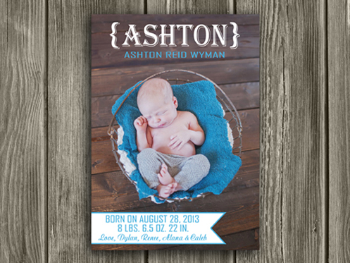 Birth Announcement Style #9 - Printable