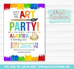 Painting Art Party Invitation 2 - FREE thank you card