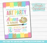 Painting Art Party Invitation 3 - FREE thank you card
