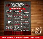 Plaid Bear and Moose Chalkboard Poster