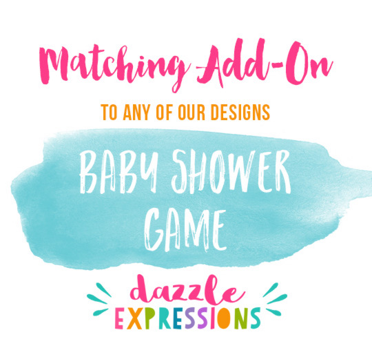 ADD ON Baby Shower Game