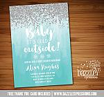 Baby Its Cold Outside Baby Shower Invitation 2 - FREE thank you card