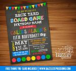 Backyard Games Birthday Invitation - FREE thank you card