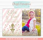 Ballet Pink and Gold Invitation 1 - FREE thank you card included