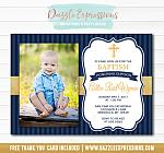 Baptism or Christening Invitation 6 - Thank You Included