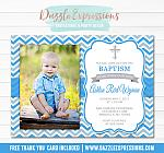 Baptism or Christening Invitation 2 - Thank You Included