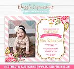 Baptism or Christening Invitation 4 - Thank You Included