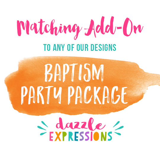ADD ON Baptism Party Package