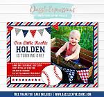 Baseball Birthday Invitation 2 - FREE thank you card
