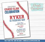 Baseball Birthday Invitation 3 - FREE thank you card