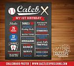 Printable Baseball Chalkboard Poster