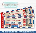 Baseball Ticket Birthday Invitation 5 - FREE thank you card