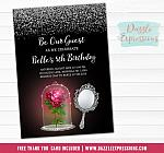 Beauty and the Enchanted Rose Invitation - FREE thank you card
