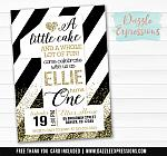 Big One Birthday Invitation 1 - FREE thank you card included
