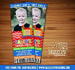 Bounce House Ticket Invitation 4 - Thank You Card Included