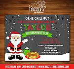Breakfast with Santa Chalkboard Invitation - FREE thank you card included