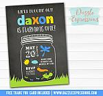 Bug Chalkboard Invitation - FREE thank you card