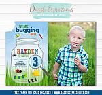 Bug Birthday Invitation - Thank You Card Included