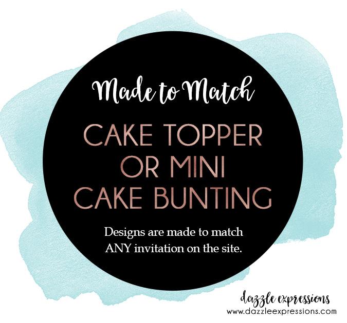 Cake Topper or Mini Cake Bunting