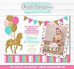Carousel Birthday Invitation 10 - FREE thank you card