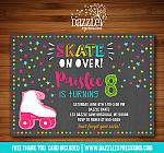 Roller Skating Chalkboard Invitation 1 - FREE thank you card included